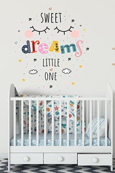 Bebek Odası Kirpik Desenli Duvar Sticker Seti