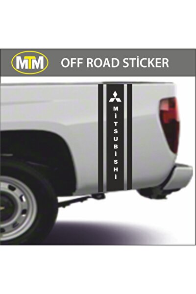 Mitsubishi Yan Şeritoff Road Sticker 2 Adet