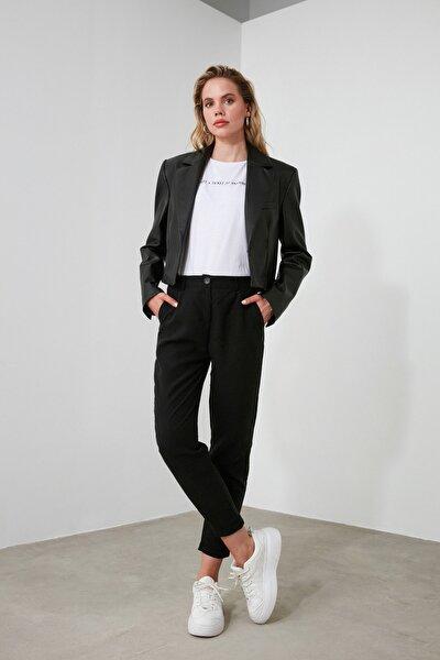 Siyah Liyosel Havuç  Pantolon TOFSS19ST0009
