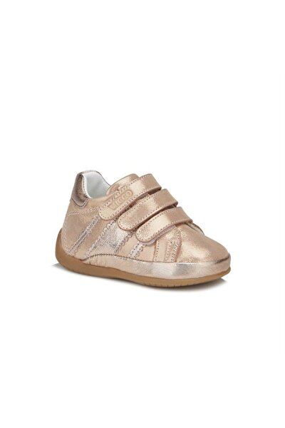 Kız Bebek Altın İlk Adım Deri Ayakkabı