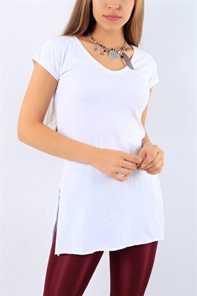 Yırtmaçlı Uzun T-shirt Tunik