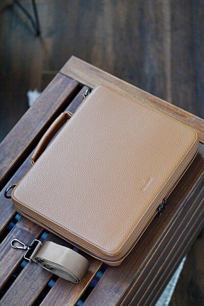 Taba Rengi  Macbook Organizer & Laptop Çantası