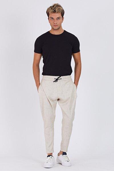 Erkek Krem Pantolon