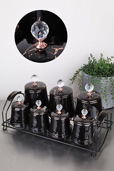 Arow Anabel Porselen Baharatlık Siyah