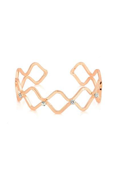 K-bıl-1122 Geometrik Rose Çelik Kadın Bıleklik
