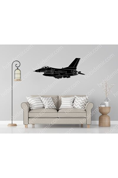 Savaş Uçağı Metal Tablo 80x30 Cm