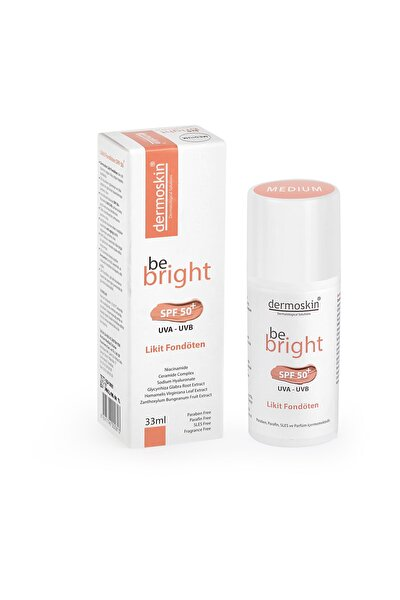 Be Bright SPF50+ Likit Fondöten Medium 33 ml 8697796000844
