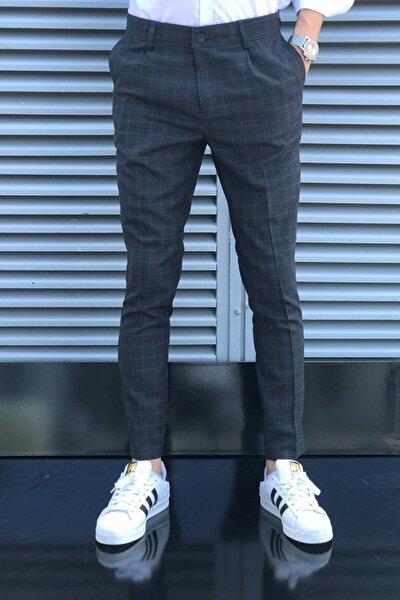 Erkek Siyah Ekose Pantolon
