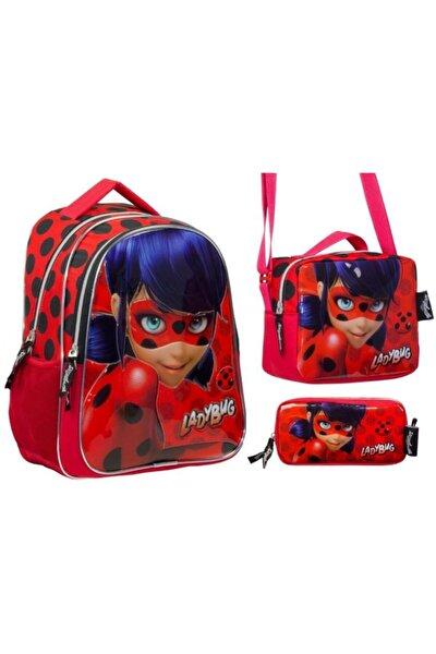 Miraculous Ladybug Lüks Okul Çanta Seti - Kız Çocuk