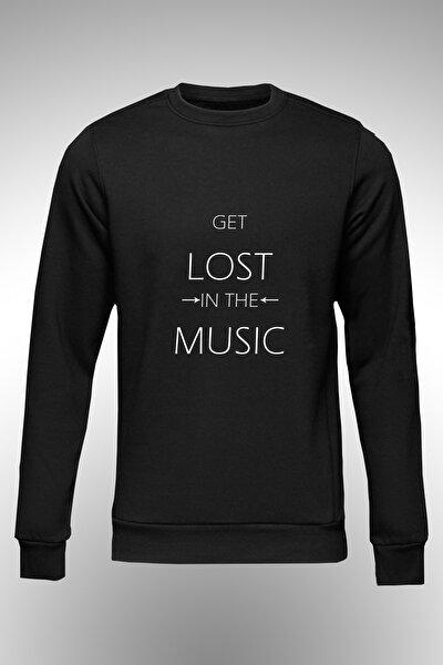 Get Lost In The Music Yazılı Baskılı Sweat.