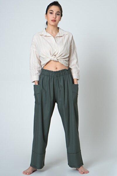 Kadın Yandan Cepli Bohem Pantolon