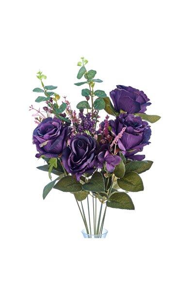 Yapay Çiçek Gül Demeti 11 Dal