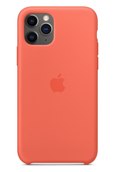 Apple Iphone 11 Pro Max Silikon Kılıf Turuncu