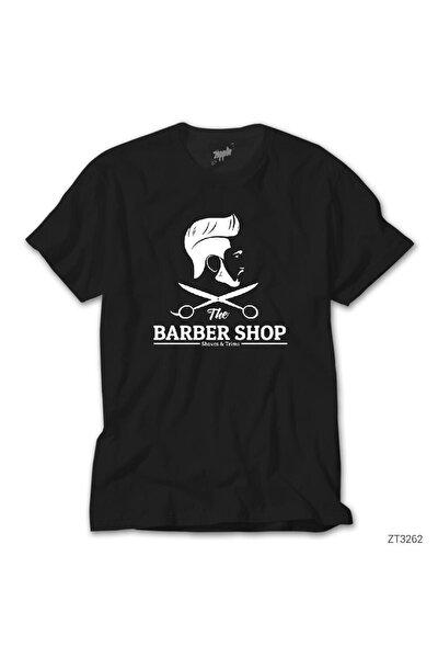 The Barber Shop Siyah Tişört