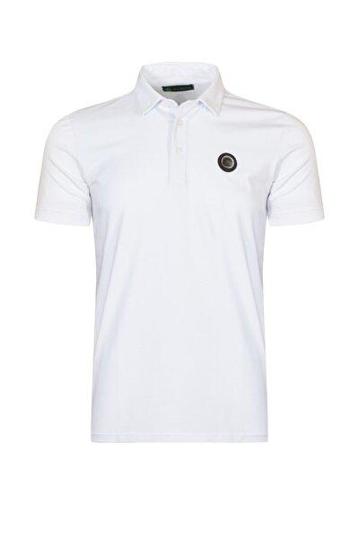 Erkek Beyaz Polo Yaka  T-shirt