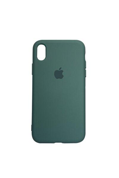 Apple Iphone Xr Logolu Iç Yüzeyi Kadife Altı Kapalı 360° Tam Koruma Silikon Lansman Kılıf
