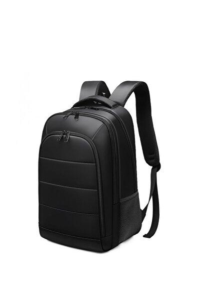Unisex Siyah Vip Laptop Bölmeli Sırt Çantası - G017