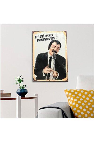 Müslüm Gürses Ahşap Retro Poster 17,5 X 27,5 Cm
