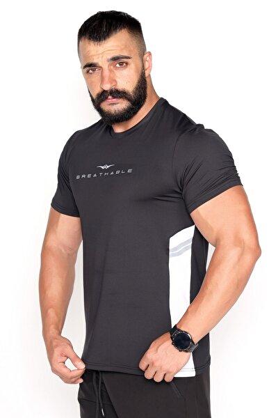 Garnili Ter Tutmayan Kumaş Reklektif Baskı Spor T-shirt