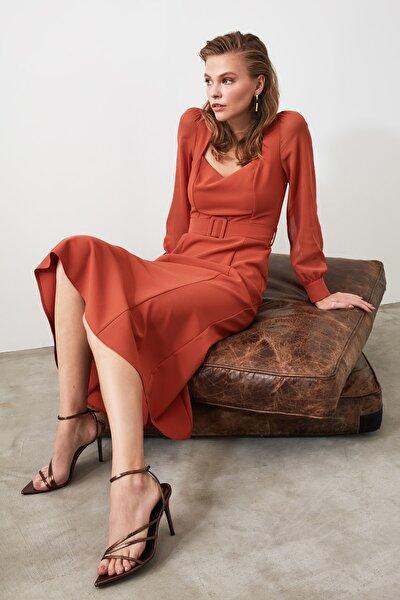 Kiremit Kemerli Elbise TWOAW21EL0352