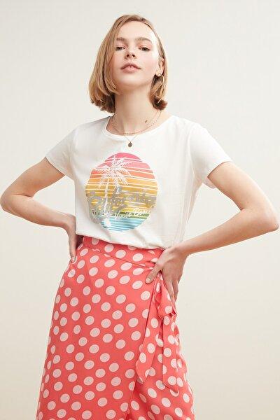 Kadın Beyaz T-Shirt 380284