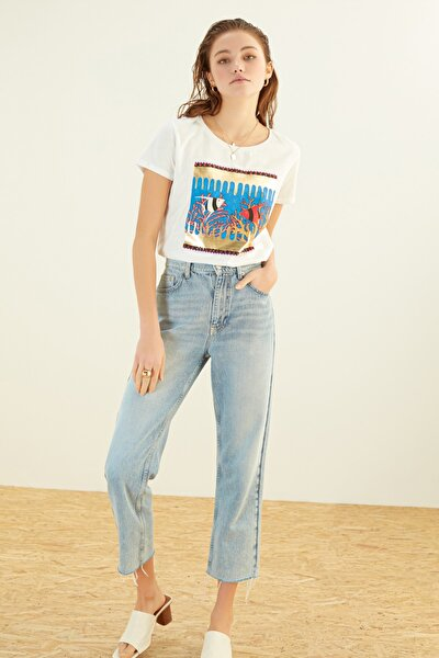 Kadın Beyaz T-Shirt 384680