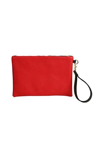 Kadın Kırmızı Clutch Çanta