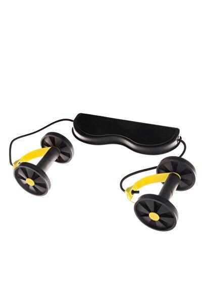 Ayarlanabilir Kopmayan Lastikli Tekerlekli Sarı Egzersiz Spor Aleti