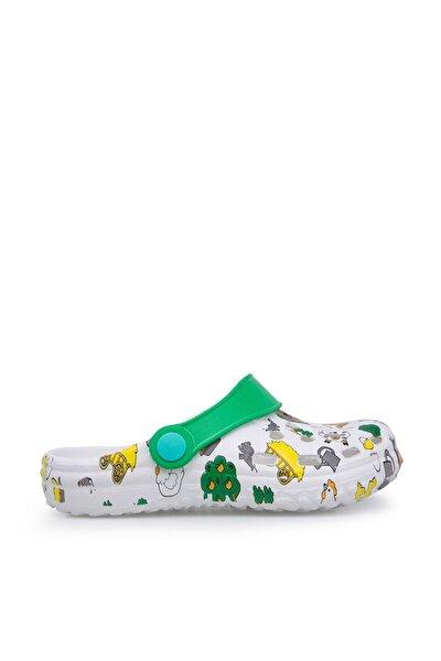 Beyaz Yeşil Unisex Çocuk Sandalet E009B025