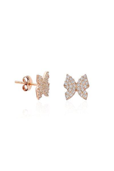 925 Ayar Minik Kelebek Küpe Kadın Gümüş Küpe