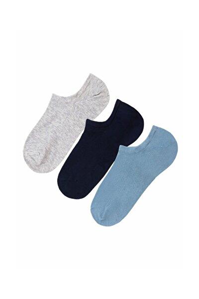 3'Lü Paket Kadın Çorabı  Navy İndıgo Gri