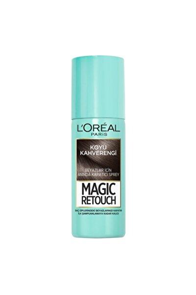 Beyaz Saçlar için Kapatıcı Koyu Kahverengi Saç Spreyi 75 ml