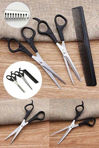 Kuaför Berber Tıraş Seti Kuaför Makası+ara Makası+tarak Özel Set