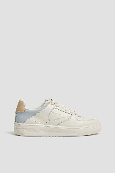 Kadın Beyaz Parça Detaylı Spor Ayakkabı 11310640