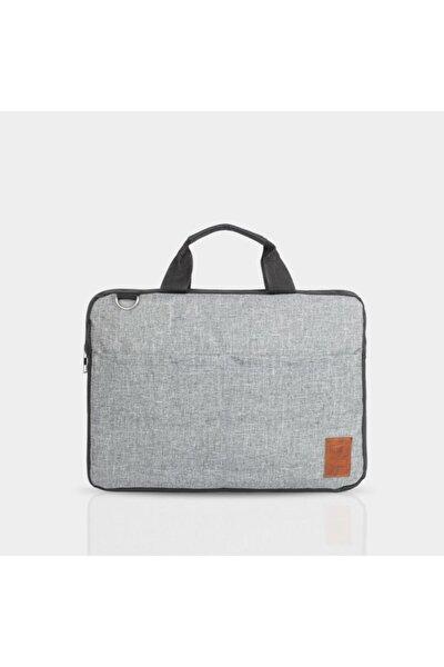 Gri Günlük Laptop Notebook Çantası  15.6 Inch