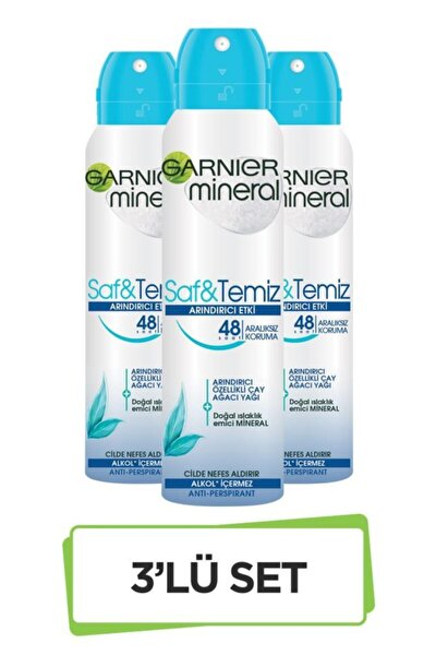 Mineral Saf&Temiz Sprey Deodorant 3'lü Set 36005420351323