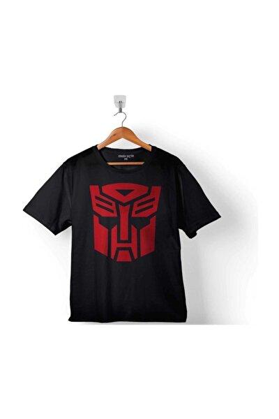 Çocuk Siyah Transformers Logo Tişört
