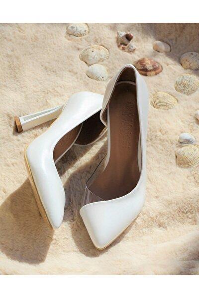 Kadın Beyaz Klasik Topuklu Stiletto