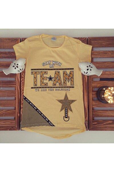 Kız Çocuk Tişört 8-12 Yaş Arası Likralı Penye New Style