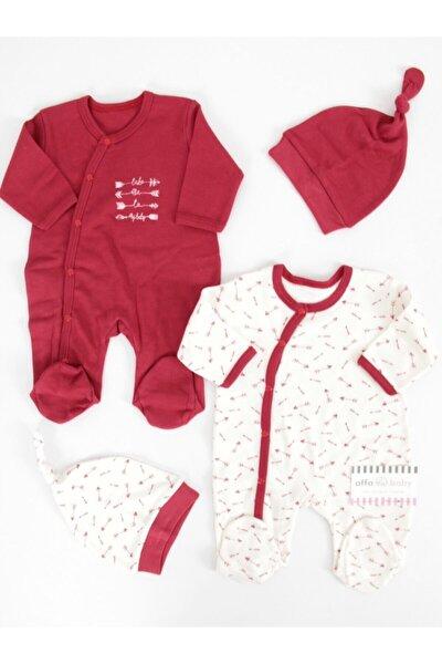 Kırmızı My Baby Bordo 4Lü Tulum Takım