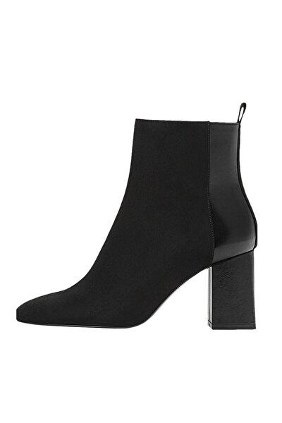 Kadın Siyah Kontrast Topuklu Bilekte Bot 19900670