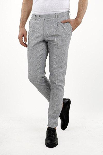 Antrasıt Klasik Kalıp - Regular Fit Pantolon Spor- Yan Cep