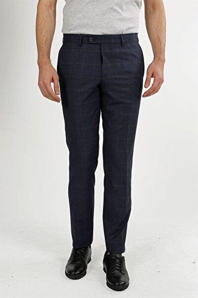Lacivert Klasik Kalıp - Regular Fit Pantolon- Yan Cep