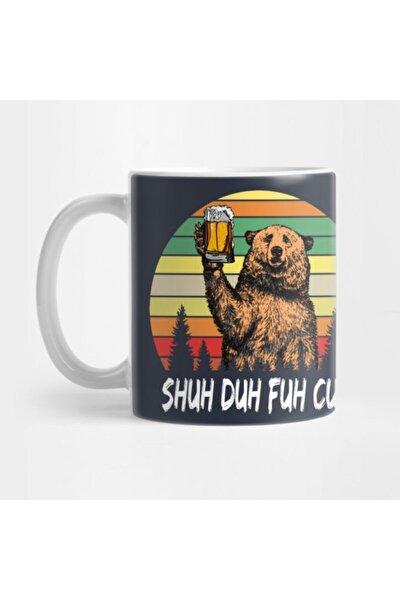 Vintage Funny Bear Drinking Beer - Shuh Duh Fuh Cup Kupa