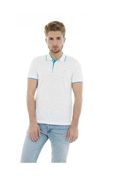 Erkek Beyaz Polo Yaka T-shirt-19YCEEOM4614