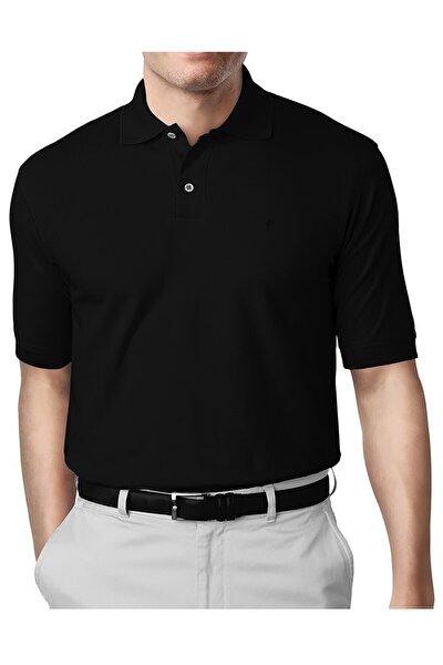 Siyah Modern Fit Polo Yaka T-shirt
