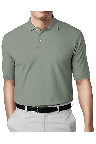 A.Yeşil Modern Fit Polo Yaka T-shirt