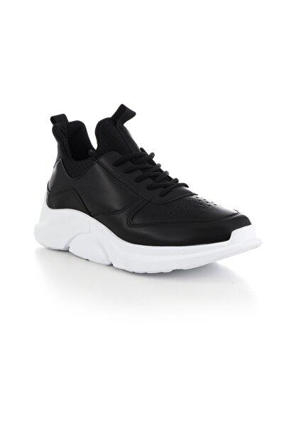 Siyah Beyaz Erkek Sneaker TB64-2