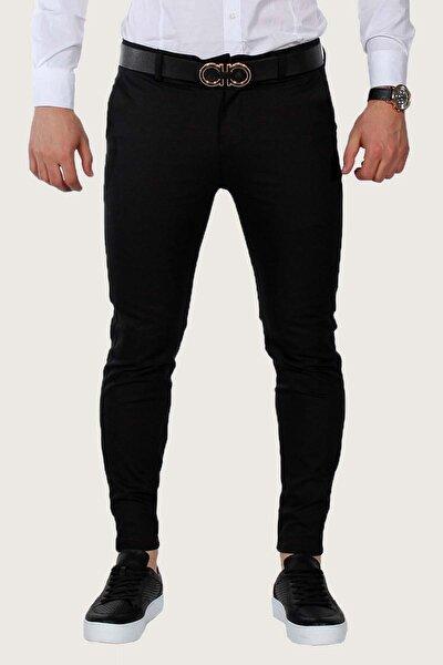 Erkek Siyah Keten Pantolon 7Y-2200068-002