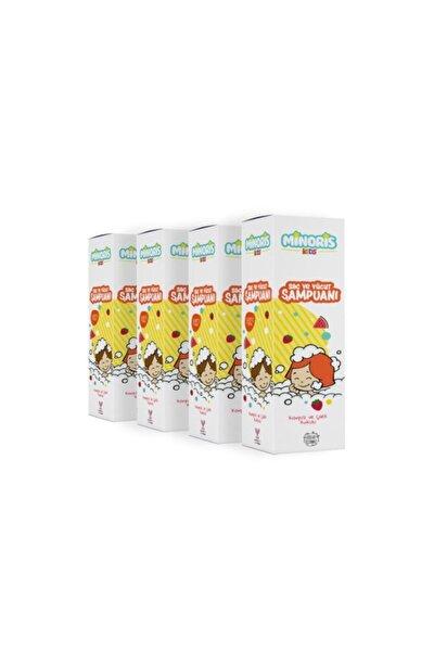 Kids Organik Saç Ve Vücut Şampuanı Karpuz Çilek X 4 Adet Set